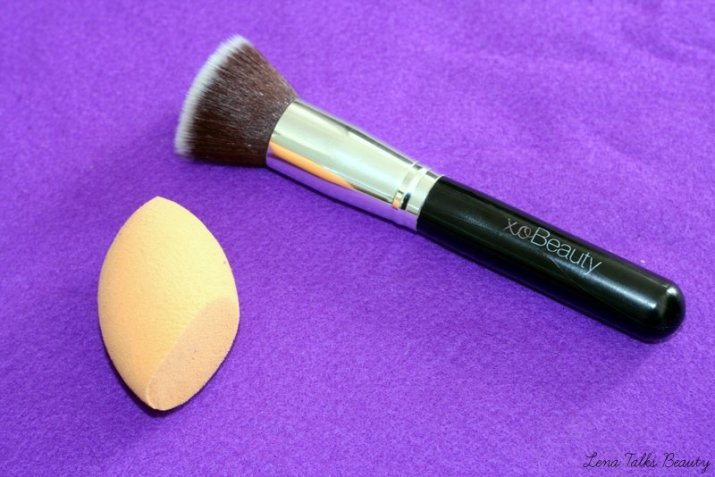 xo beauty kabuki brush, real techniques sponge