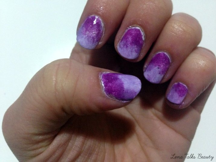 collection purplicious and lilac daze ombre nails