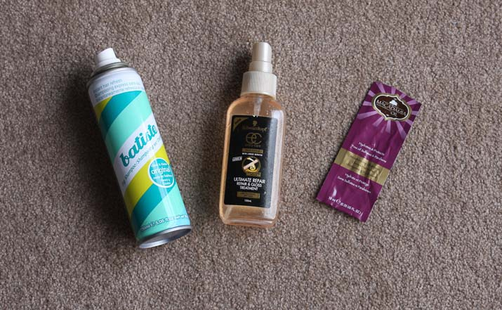 Bastiste Dry Shampoo, Schwarzkopf Ultimate Repair gloss treatment, Hask Macadamia Oil Shampoo - Lena Talks Beauty
