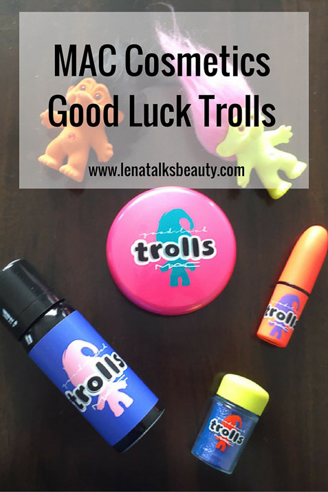 MAC Good Luck Trolls limited edition makeup collection, used by Lena Talks Beauty