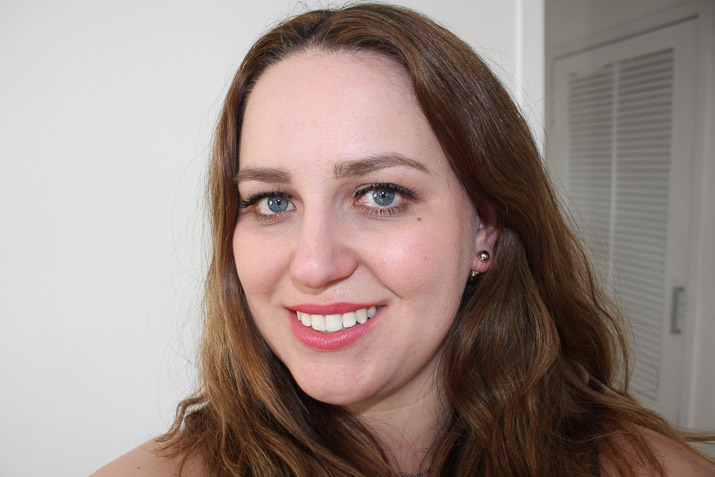 Lena Talks Beauty wearing Glamorous Shorty Lashes by Social Eyes Lashes
