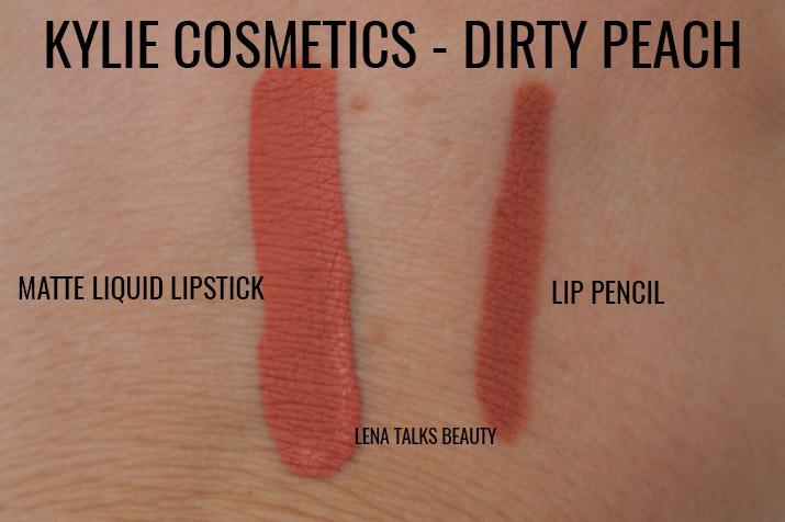 Kylie Cosmetics Dirty Peach swatch - Lena Talks Beauty