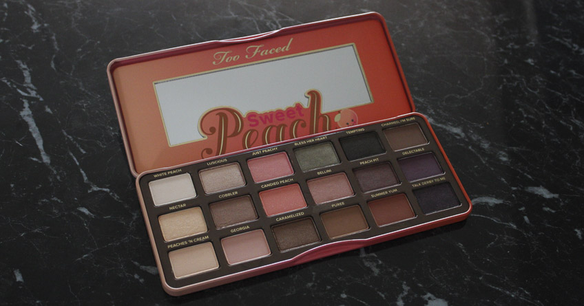 Too Faced Sweet Peach eyeshadow Palette - Lena Talks Beauty