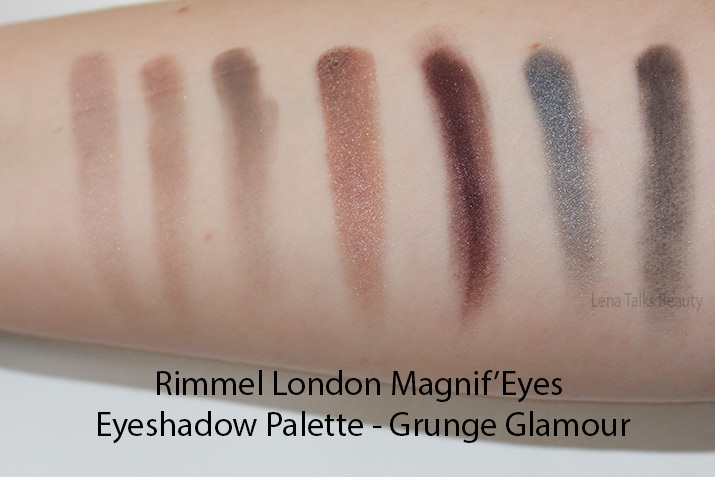 Rimmel Magnif'Eyes Grunge Glamour swatches - Lena Talks Beauty