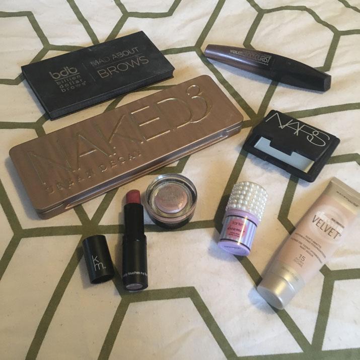Makeup of the week flatlay - Lena Talks Beauty