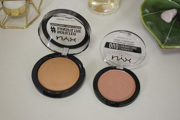 NYX Professional Makeup no filter finishing powder and NYX duo chromatic blush - Lena Talks Beauty