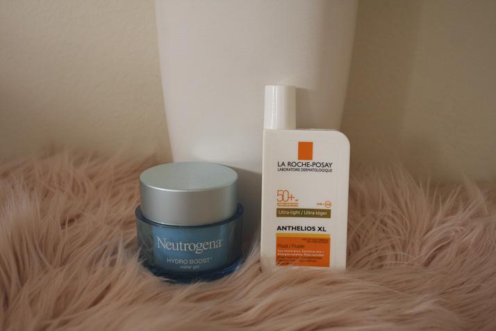 Neutrogena Hydro Boost and La Roche-Posay Anthelios XL sunscreen - Lena Talks Beauty