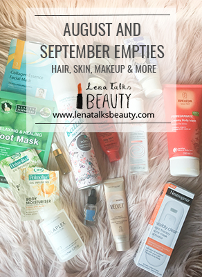 Lena Talks Beauty August and September empties