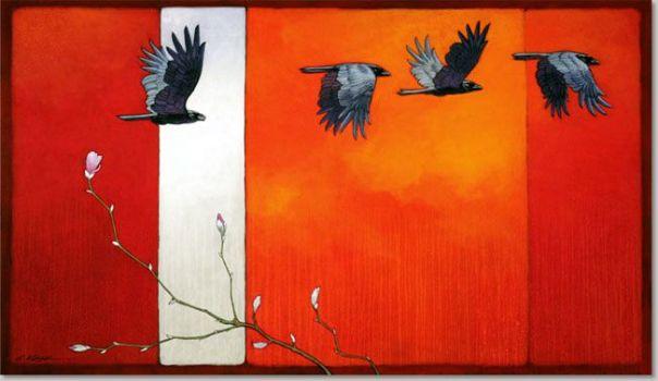 lenaventures chamanisme corbeau crow raven