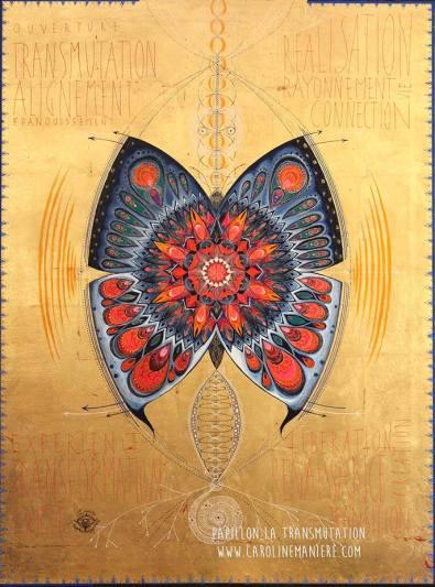 le Papillon de la transformation, de la re-naissance.