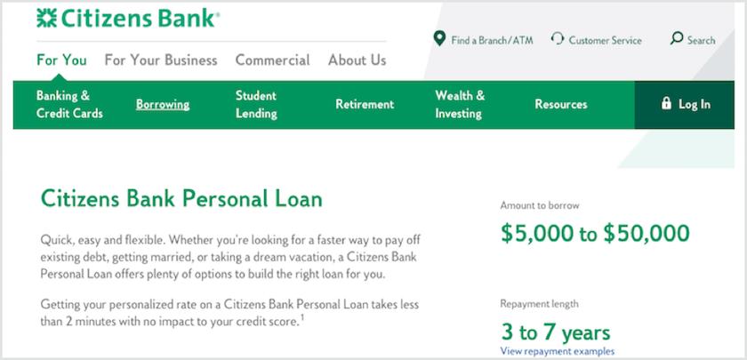 Citizen Bank Personal Loans