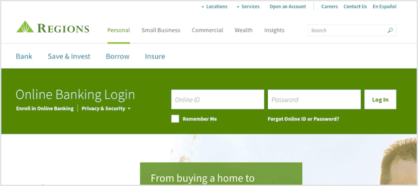 Regions Bank Personal Online Banking