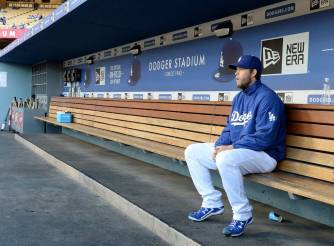 Clayton-Kershaw-Alone-on-Bench