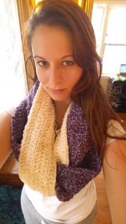 Infinity, Braided - Cream, Purple