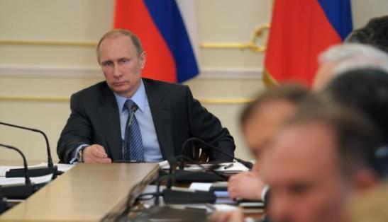 Vladimir Putin tại một cuộc họp ở ngoại ô Moscow ngày 19/3/2014. (Ảnh: Alexy Druzhinin/AFP/Getty Images)