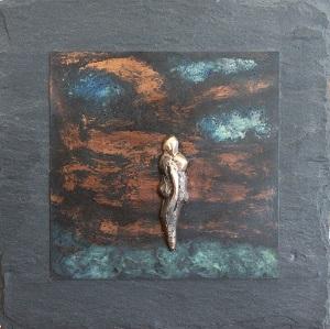 bronzebillede_kunst_bronzeskulptur_lene_purkaer_stefansen_varemaerkebeskyttet_silhuet_af_kaerlig_omsorg
