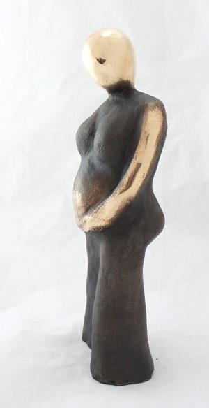 bronzeskulptur_lene_purkaer_stefansen_bronzefigur_kunst_skulpturer_den_den_dejlige_ventetid