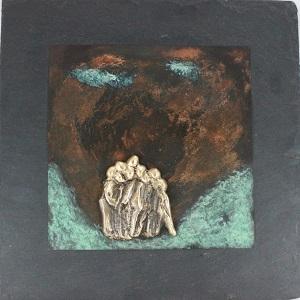 bronzebillede_kunst_bronzeskulptur_lene_purkaer_stefansen_varemaerkebeskyttet_Venskaber_nogle_kommer_nogle_ gaar_mange_bestaar