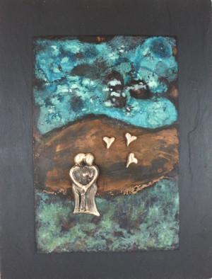 bronzebillede_lene_purkaer_stefansen_Kaerligheden_blomstrer_ud_af_det_blaa