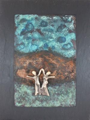 bronzebillede_lene_purkaer_stefansen_Lykken_er_en_at_glaede_sig_sammen_med