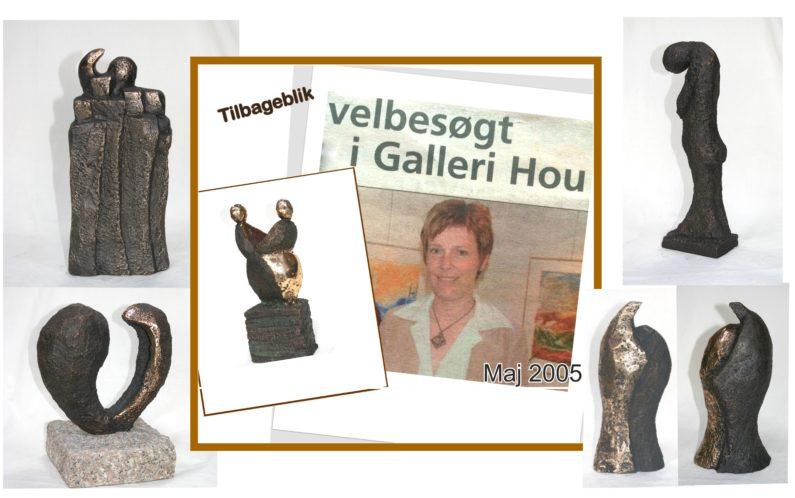Noget i 2005 fik betydning for udtrykket i mine første skulpturer… ser jeg nu, meget klart