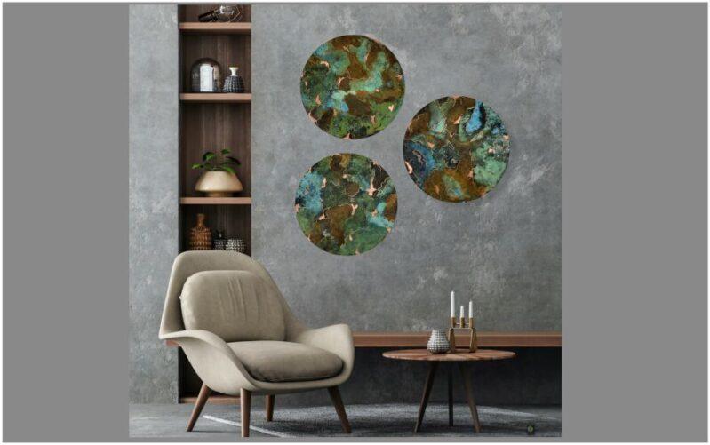 Runde Bronzebilleder Colorful Fantasy Ø25 cm, Ø30 cm og Ø38 cm