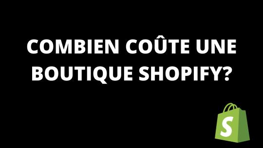 Combien coûte une boutique Shopify?