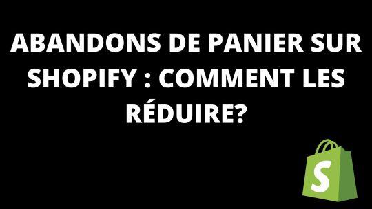 Abandons de panier sur Shopify : Comment les réduire?