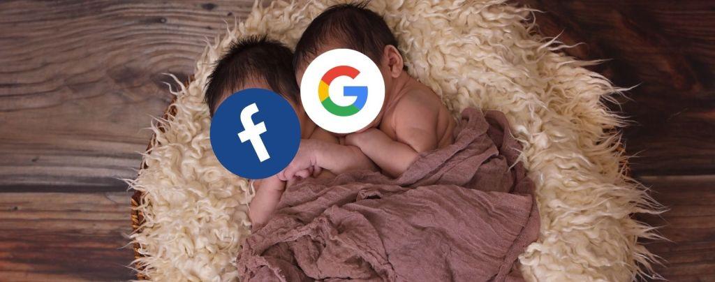 Point communs google et facebook