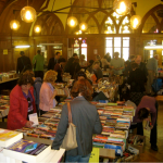 Spring book sale at the library in English