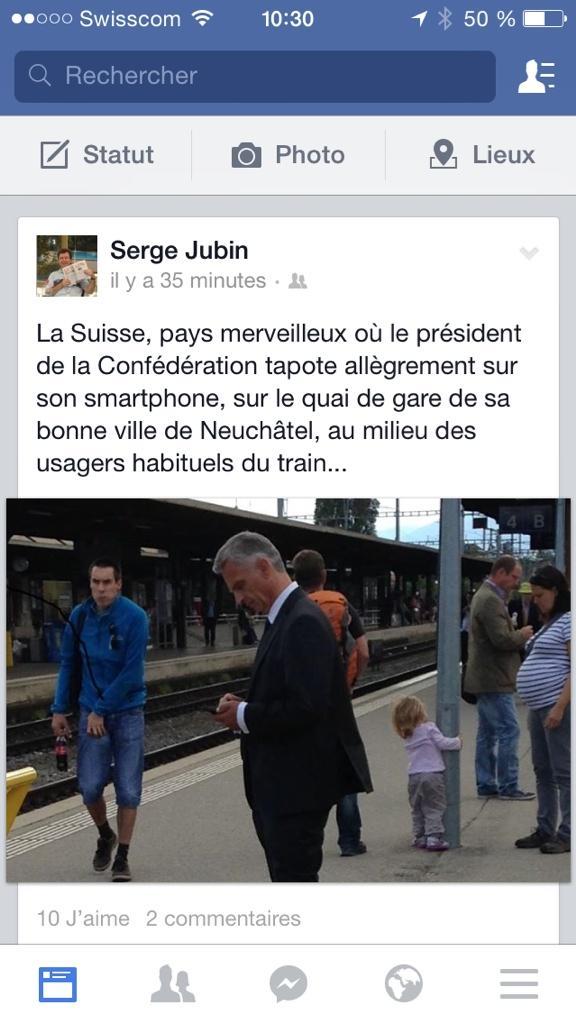 Swiss president twitter