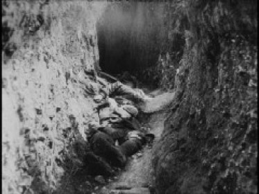 A  captured German trench during The Somme