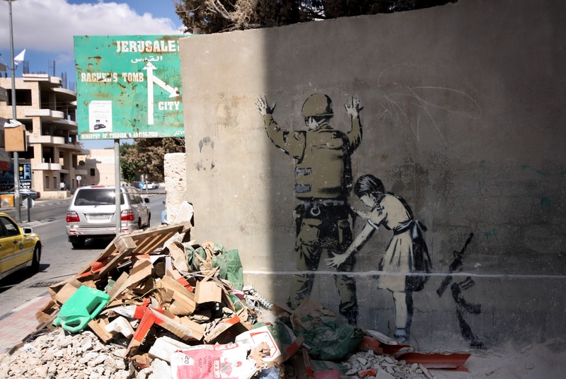Sometimes it appears that Banksy' has the only sane viewpoint of the situation