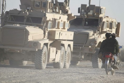 US vehicles in Helmand Dec 09