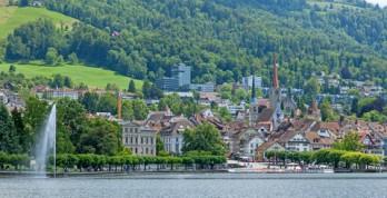 Zug village Switzerland