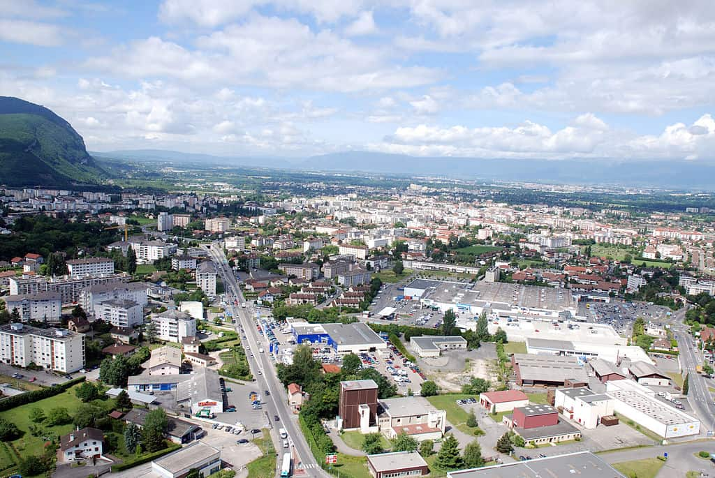 The French town of Annemasse