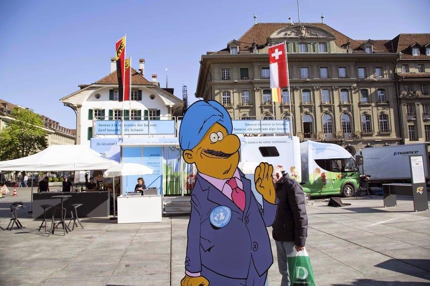 Geneva bus UN character