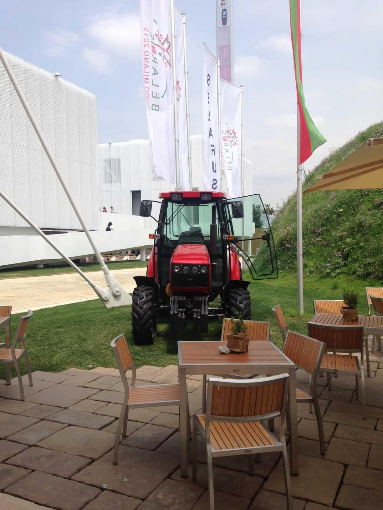 Tractor Belarus Milan expo 2015