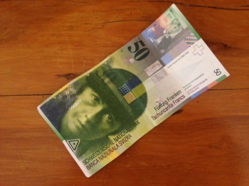 The current 50 Swiss franc note