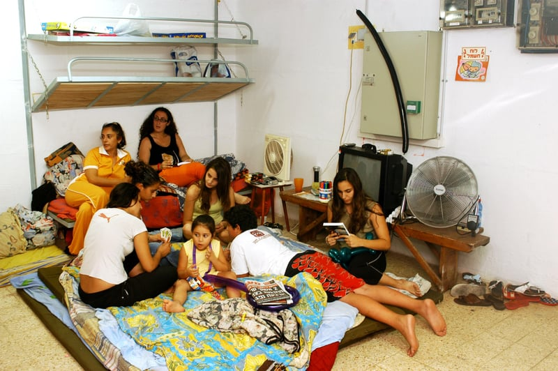 Family in a bomb shelter - © Rafael Ben-ari | Dreamstime.com