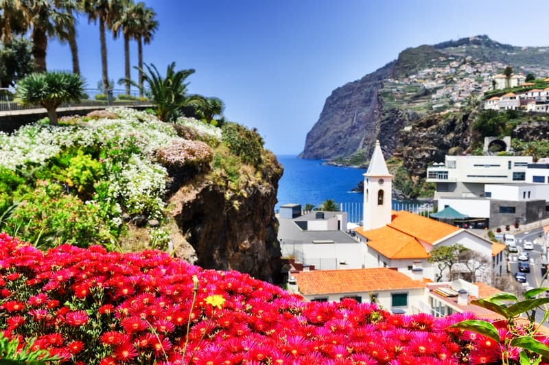 Camara de Lobos, a small fishing village on the Island of Madeira © Paulgrecaud | Dreamstime.com