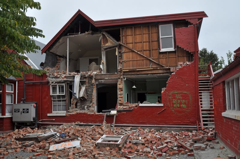 Earthquake damage in Christchurch NZ - © Nigel Spiers | Dreamstime.com