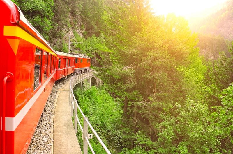 On the move between Chur and Arosa - © Serjio74 | Dreamstime.com