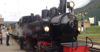 Taking a trip back in time on a Swiss steam train