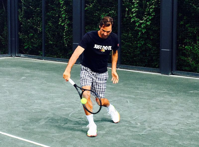 Roger Federer training - source: Twitter