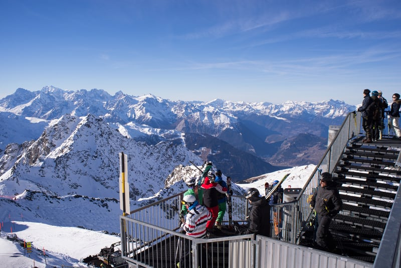 Mont Blanc from Mont Fort © Chris Brown