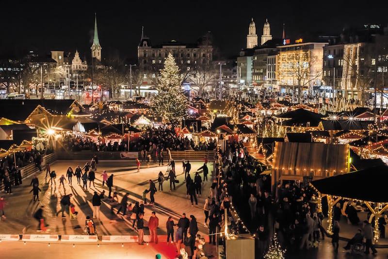 Sechselaeutenplatz, Weihnachtsdorf © Zürich Tourism / Alex Buschor