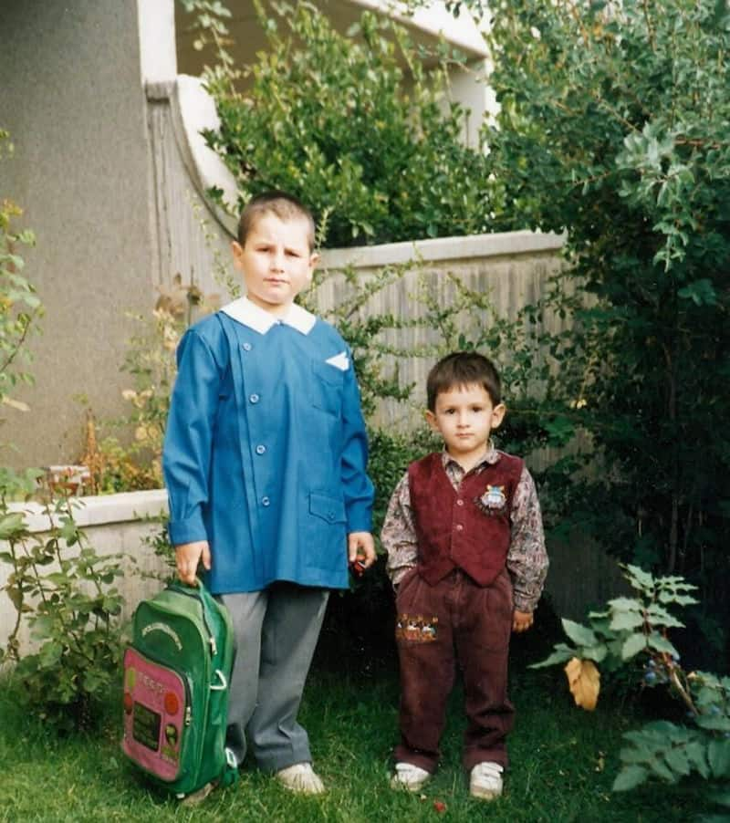 Dersim and his brother as children
