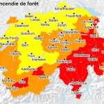 High fire danger in certain parts of Switzerland
