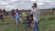 Ungheria, camerawoman sgambetta migranti in fuga.